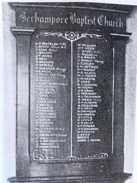 berhampore honours board